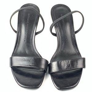 Zara Basic collection heels sz 6 36 black leather